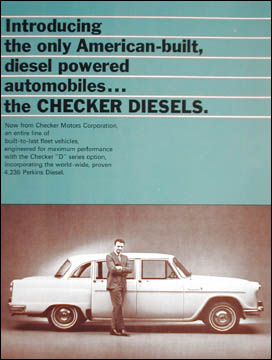 Ad for 1968 Checker diesels