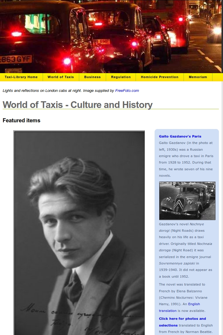 Link to the Legacy Taxi-Library World of Taxis Page
