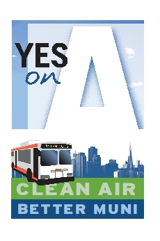 Political campaign poster calls for clean air and better transit