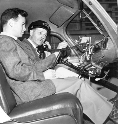 Two men in front seat