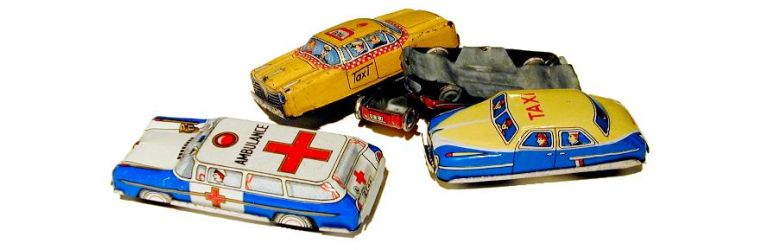 Toy cars from the collection of Cliff Lundberg