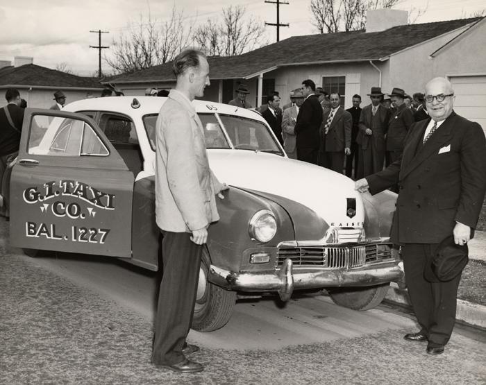 Kaiser-Frazer automobile as a taxicab