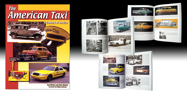 Book illustration with lots of taxis