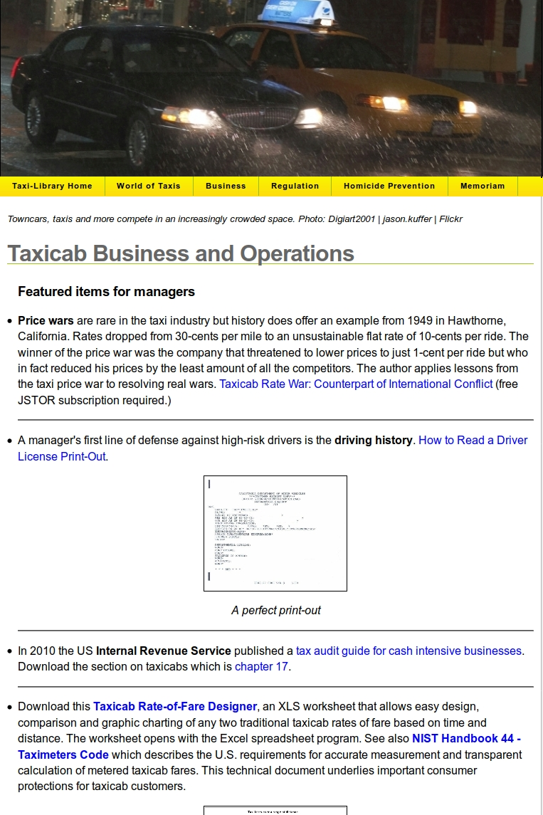 Link to the Legacy Taxi-Library Business Page