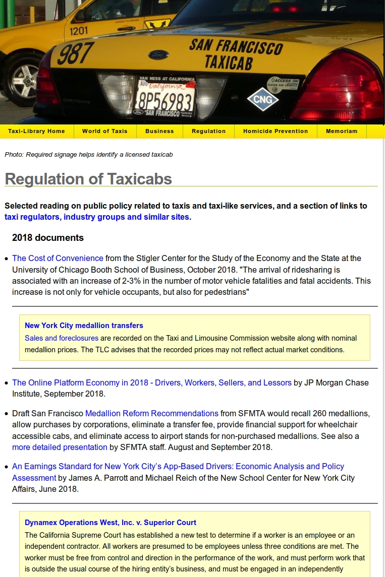 Link to the Legacy Taxi-Library Regulation Page