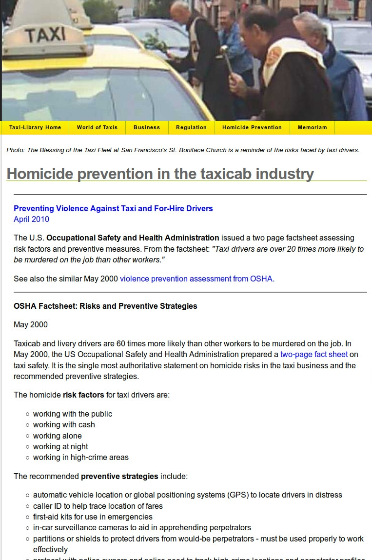 The Legacy Taxi-Library Homicide Prevention and Safety Page