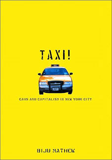 Yellow book cover with a picture of a taxi